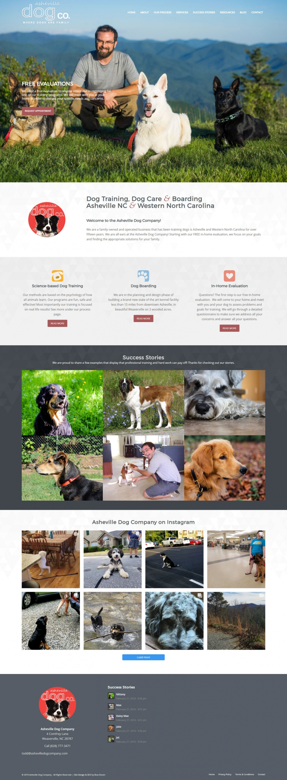 Website Design for Asheville Dog Company