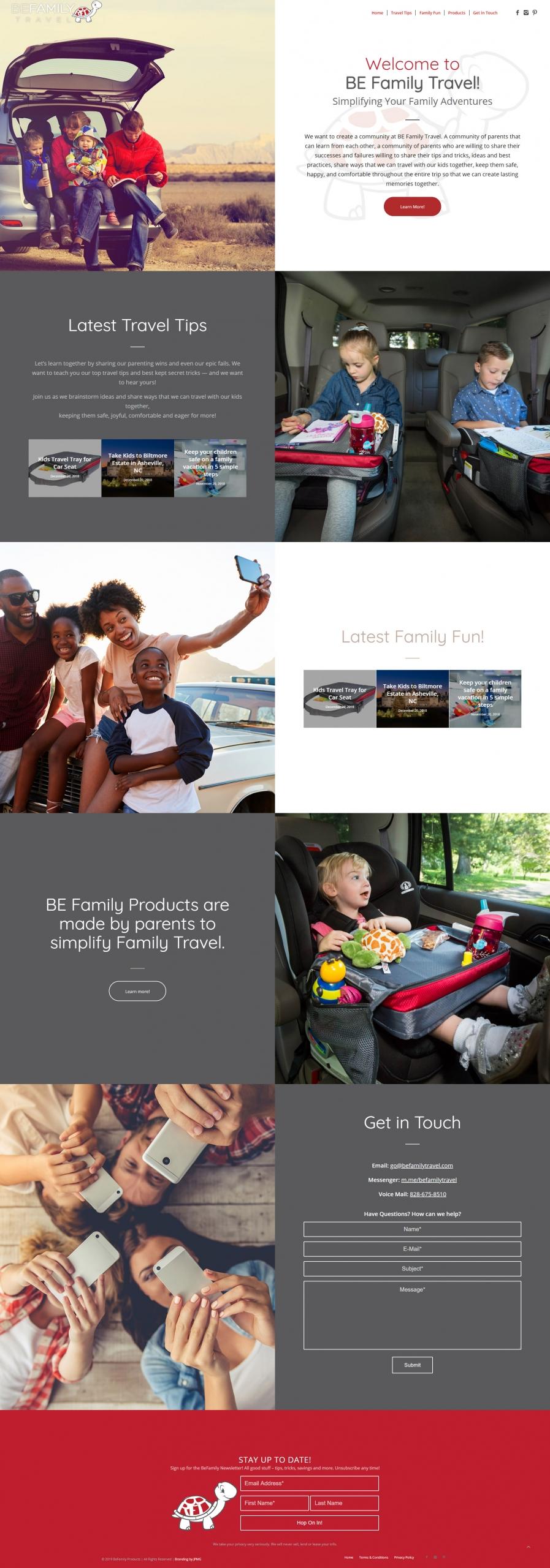 BeFamily Travel Website Design & Development