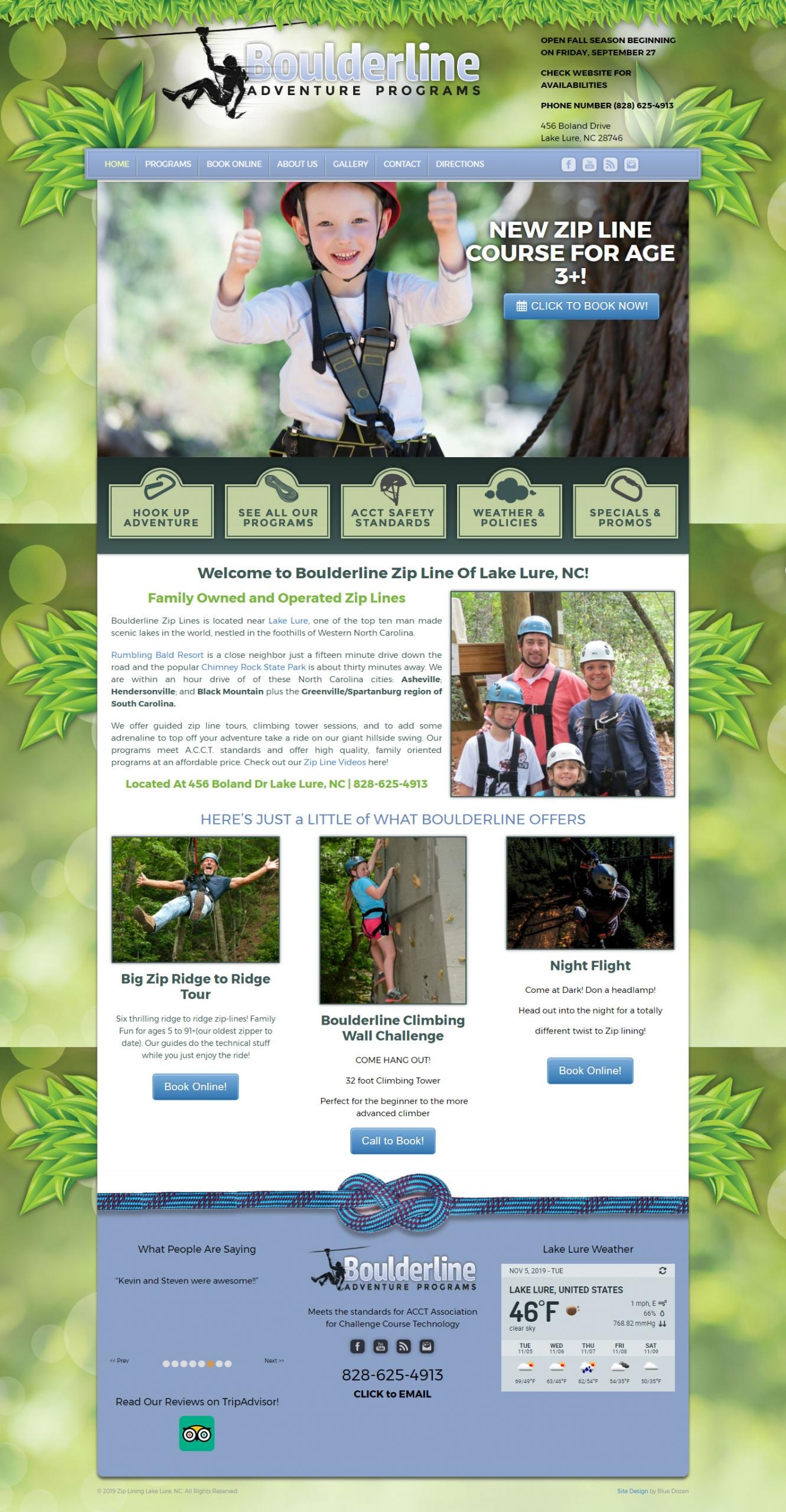 Boulderline Zip Web Design