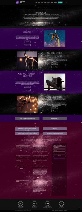 Web Site Design for Empyrean Arts