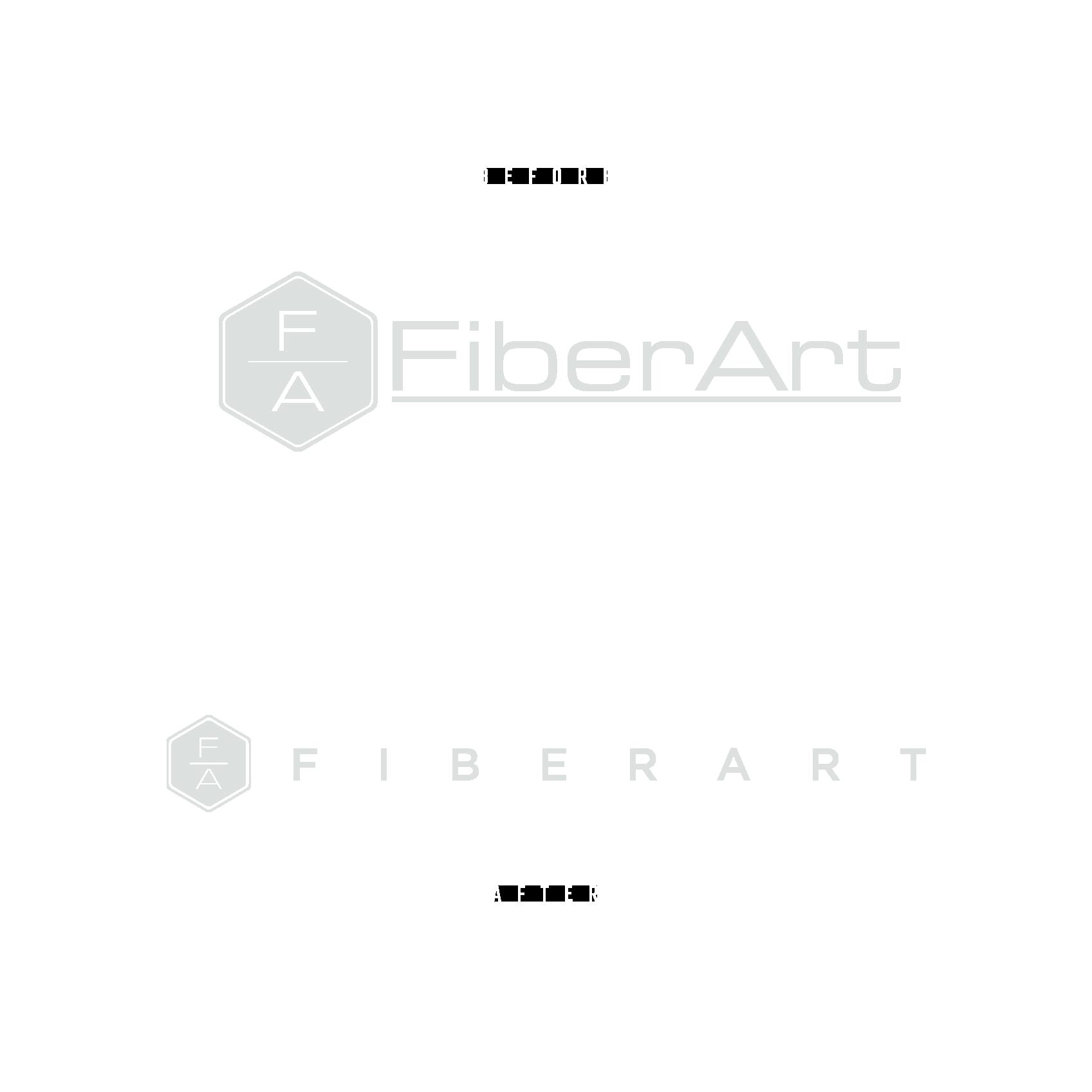 Logo Before and After - FiberArt