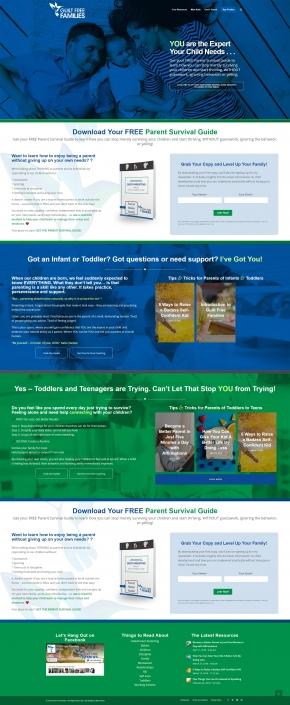 Website Design - Guilt Free Families