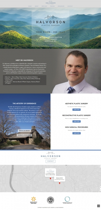 WordPress Website Design - Halvorson Plastic Surgery