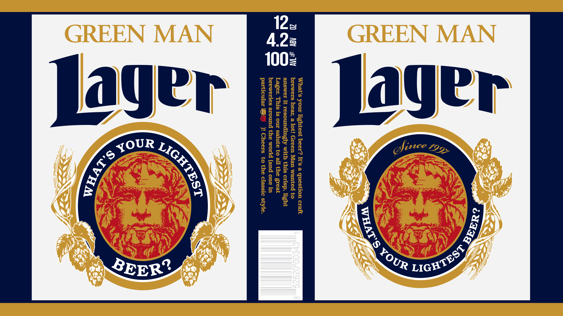 Beer Label Design - Green Man Brewery