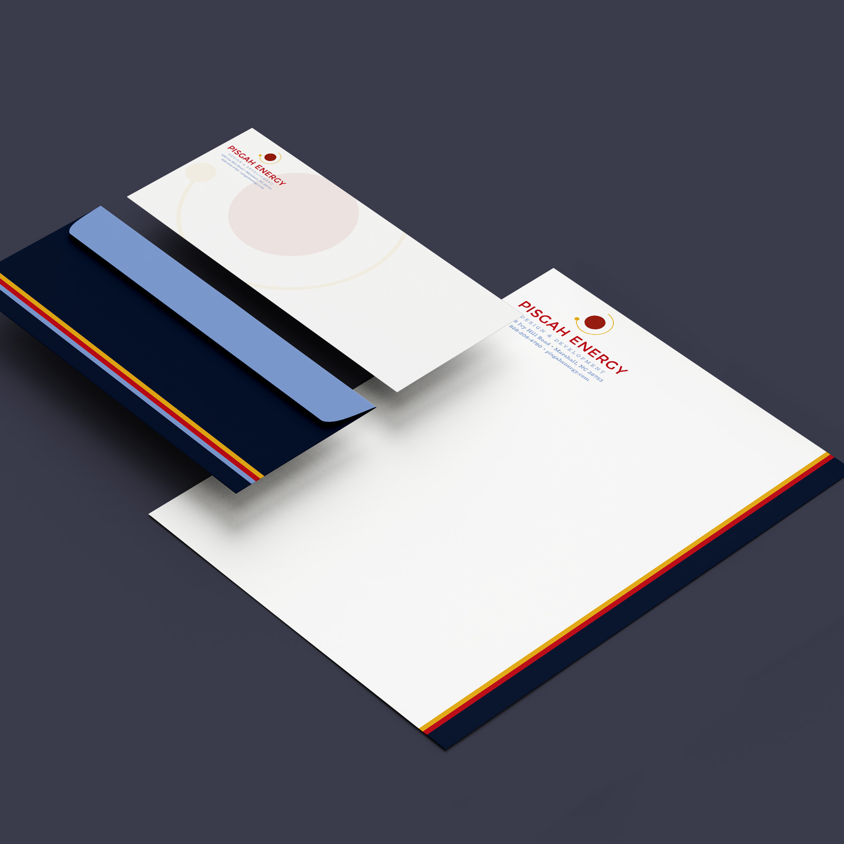 Letterhead & Envelope Design - Pisgah Energy