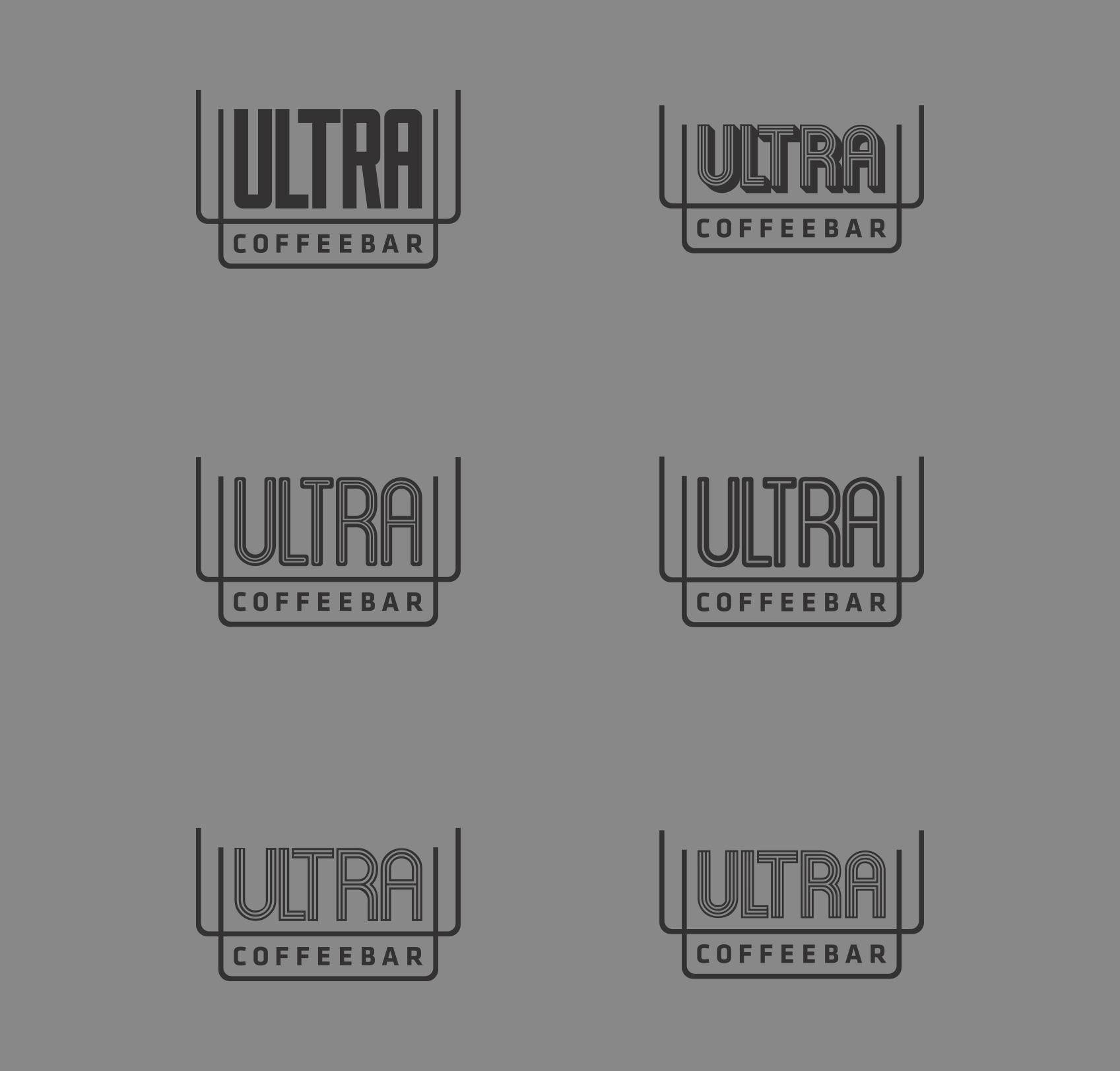 Logo Roughs - Ultra Coffeebar