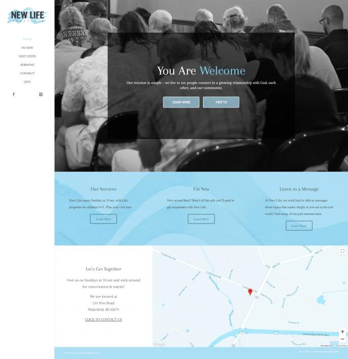 New Life Wakefield Website Design