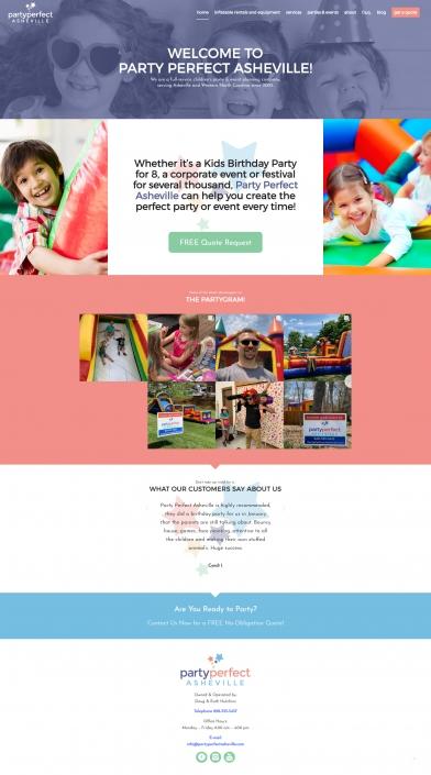 Party Perfect Asheville WordPress Web Design