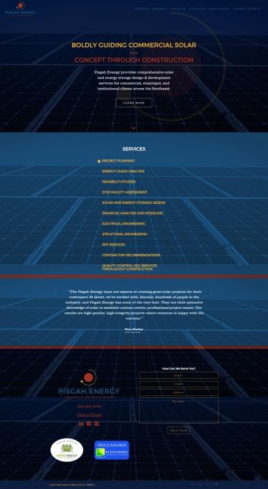 Pisgah Energy Website Design & Development