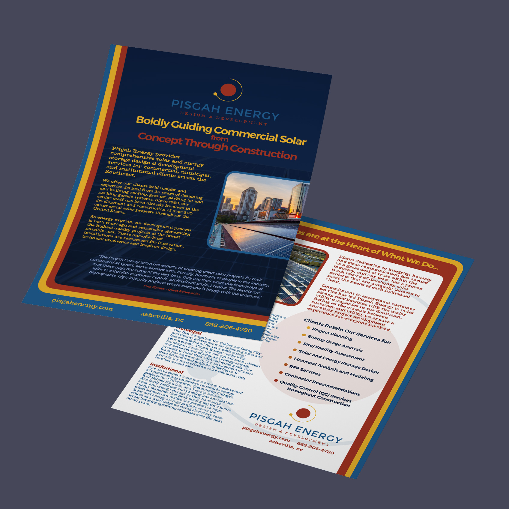 Sales Sheet Design - Pisgah Energy