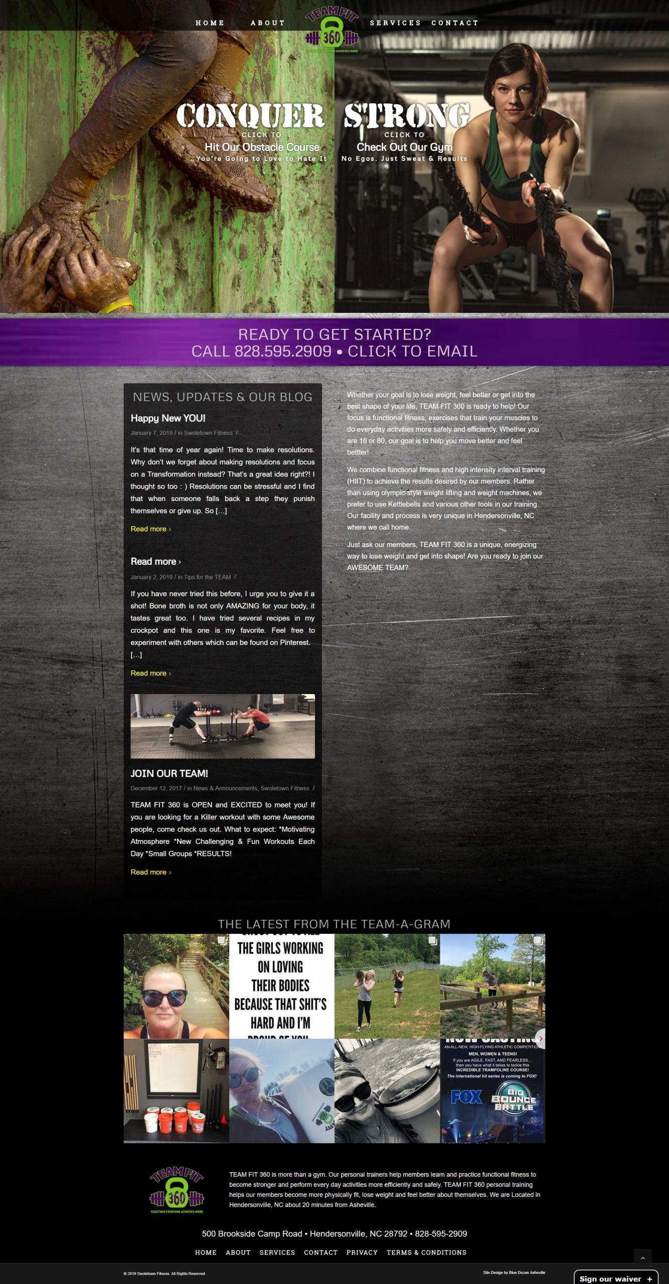 Website Design - TeamFit 360