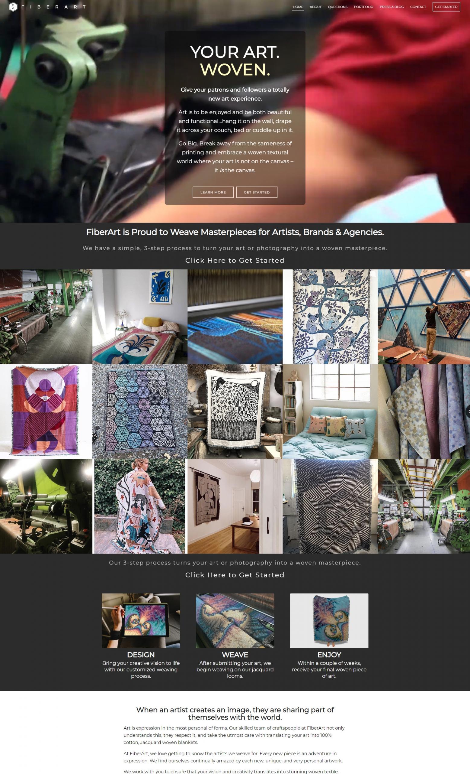 Website Design - After - FiberArt.com