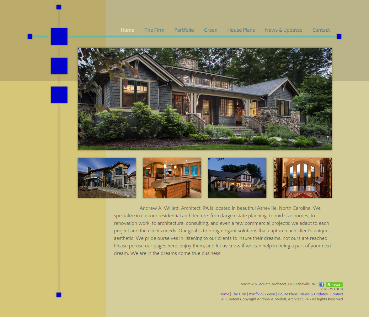 WordPress Site for Andrew Willett, Architect