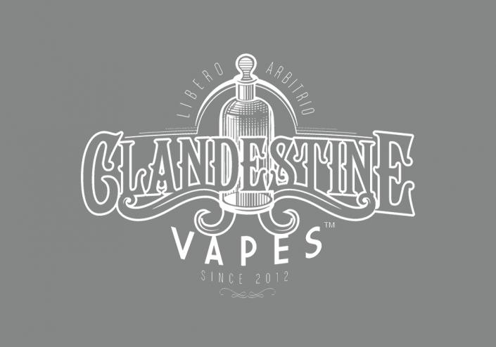 Clandestine Vapes Logo Design