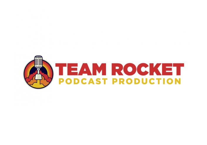 Team Rocket Podcast Production Logo Design